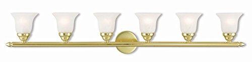 Livex Lighting 1066-02 Neptune 6 Bath Light, Polished (02 Polished Brass Bath)