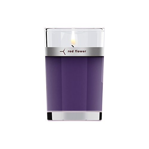 Red Flower French Lavender Petal Topped Candle, French Lavender, 6 oz