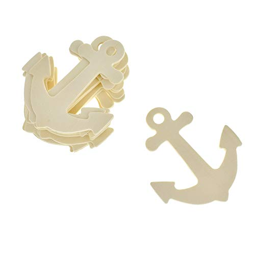 - Homeford Anchor Shaped Wooden Cut-Outs, Ivory, 3-1/2-Inch, 10-Count