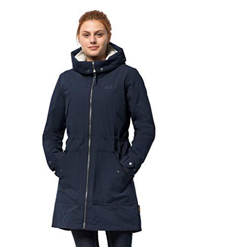 Jack Wolfskin Women's Rocky Pt. Parka Waterproof Insulated Sherpa Jacket, Midnight Blue, - Womens Parka