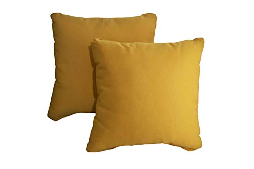 Outdoor Pillow Covers Washable Yellow