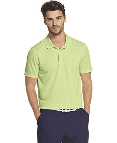 IZOD Men's Performance Golf Short Sleeve Grid Polo Shirt, Patina Green, XX-Large