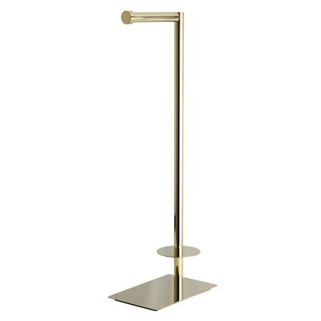 Modern Freestanding Toilet Paper Stand in Polished Brass Finish by Kingston Brass