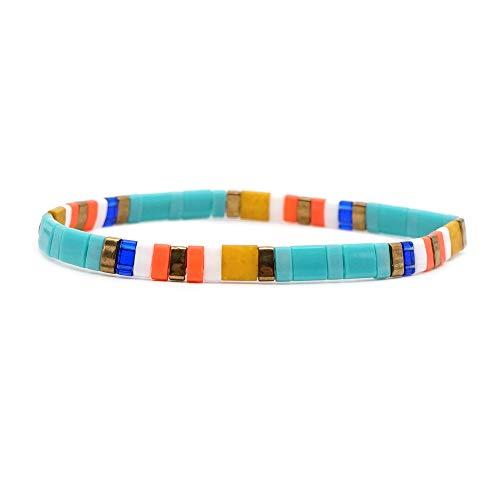 JAYUMO Multicolor Handmade Beaded Adjustable Bohemia Friendship Charm Bracelets for Women Girls (03)