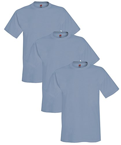 (Hanes Adult ComfortBlend EcoSmart T-Shirt, Stonewashed Blue, S ( Pack of 3 ))