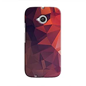 Cover It Up - Orange Purple Pixel Triangles Motorola Moto E2 Hard Case