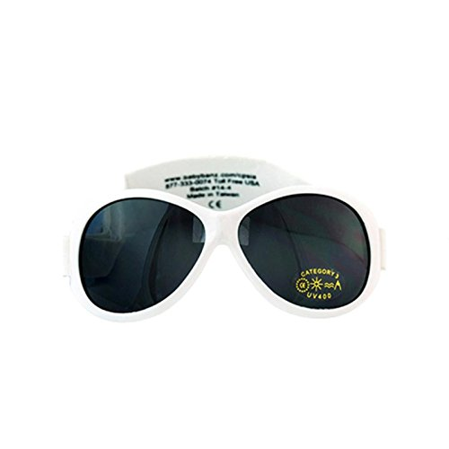 Kidz Banz Retro Banz Oval Kidz Sunglasses, Arctic White, 2-5 - Banz Uk Baby