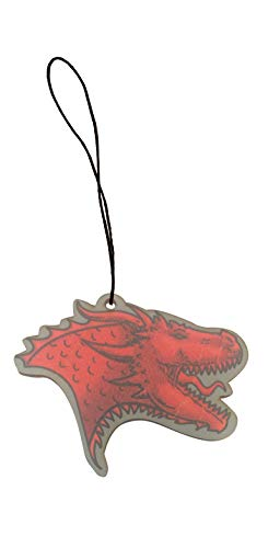 Single Dragon Head Game Crest TV Show Parody Engraved Printed Wooden Rear View Mirror Car Charm Dangler (Dragon)