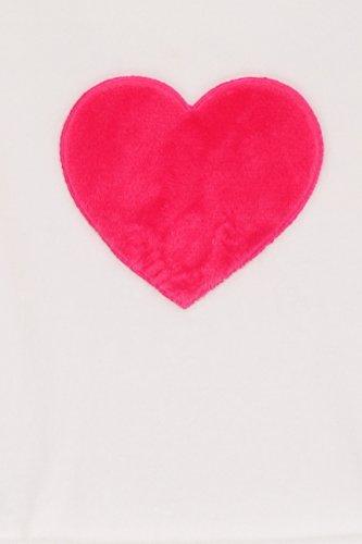 Loungeable - Bata extra suave para mujer (forro polar) White Heart Classic