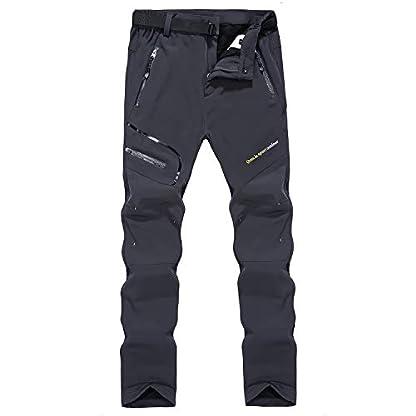 Naudamp Women's Outdoor Quick Dry Hiking Trousers Winter Softshell Windproof Fleece Lined Walking Climbing Pants 1