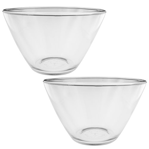Anchor Hocking (2 Pack) 3qt Glass Mixing Bowls Set Serving Bowl For Side Dishes Parties Large