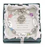 Love, Friend, Forever Silver & Crystal Expressively Yours Bracelet
