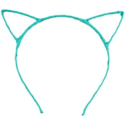 Tinksky Cute Fancy Cat Ears Headband Hair Clips for Dress Costume Party (Light Blue)