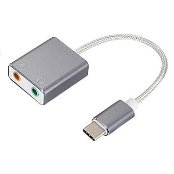 mimaniny Tipo C a USB 7.1 Tarjeta de Sonido 3.1 a 7.1 ...