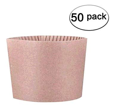 Cup Corrugated (Gotopack Disposable Coffee Cup Sleeves Provide Great Insulation Protective Corrugated Paper Cup Sleeves 50 pack)