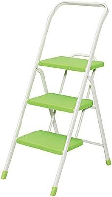 Gwgbxx Escalera Plegable Interior para Taburete escalonada Escalera metálica de Tres escalones Escalera móvil Antideslizante (Color : Green): Amazon.es: Hogar
