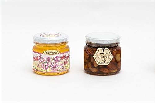 【国産純粋ハチミツ・養蜂園直送】れんげ蜂蜜300g ナッツ蜂蜜漬 260g