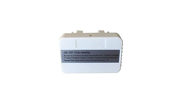 syoon nuevo cartucho de reset chip reiniciador para Epson SureColor T3200 T5200 T7200 T3000 T5000 T7000 t3050 T5050 T7050 t3270 T5270 reiniciador: Amazon.es: Oficina y papelería