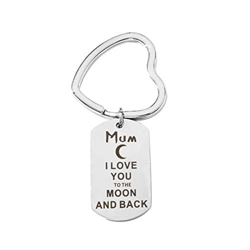 Mum Gift Keychains I LOVE YOU TO THE MOON AND BACK Keychain Mothers' Day Gift