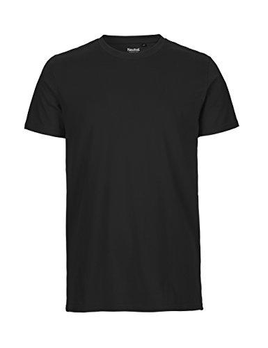 -Neutral- T-shirt, 100% Bio-Baumwolle. Fairtrade, Oeko-Tex und Ecolabel zertifiziert, Textilfarbe: schwarz, Gr.: M