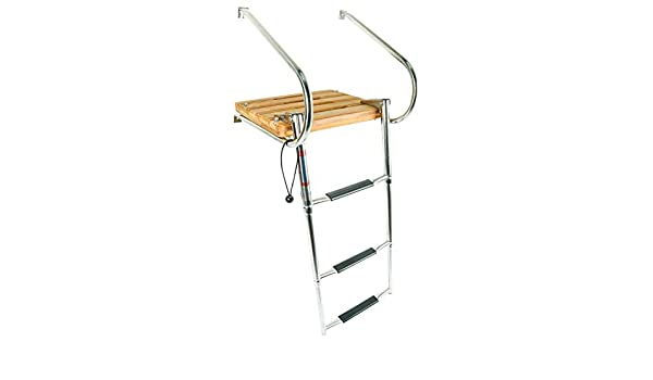 NiceDD 9924SIB3T3 - Escaleras Plegables para Barco (3 peldaños, Acero Inoxidable): Amazon.es: Deportes y aire libre