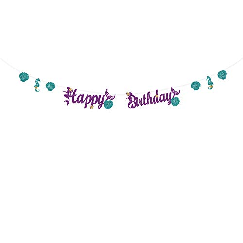 - CC HOME Mermaid Birthday Party Decorations Supplies / Mermaid 1St Birthday Party Decorations /Mermaid Happy Birthday Banner/Mermaid Under the Sea Baby Shower Party Decor,Birthday Banner for Girls ,Nautical Party ,Gone Fishing, Party ,Baby Shower,Birthday Party Decoration Supplies