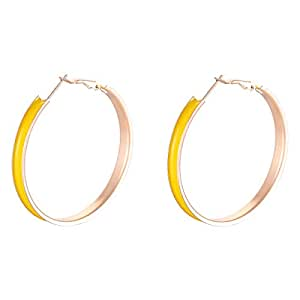 Flying Jewellery Silver Plated Hoop Earrings, Latch Closure