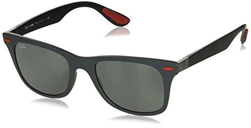 Ray-Ban Mens Plastic Man Non-Polarized Iridium Square Sunglasses, Matte Grey, 52 mm