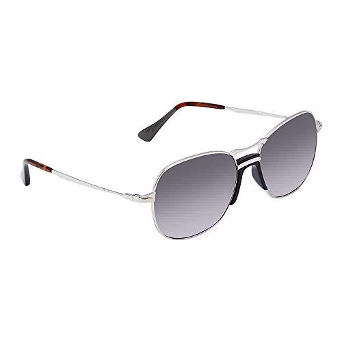 Persol Men's 0PO2449S Silver/Grey Gradient/Dark Grey Polarized One Size