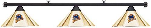 Imperial NBA Golden State Warriors Brass Shade & Black Bar Billiard Pool Table Light (Warriors Pool State Golden)