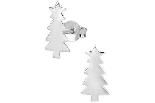 925-Sterling-Silver-Christmas-Tree-Childrens-Holiday-Stud-Earrings-for-Girls