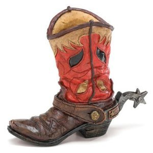 Western Cowboy Boot Vase Planter for Western Decor,Weddings,Functions]()