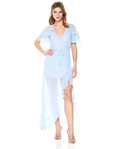 For Love & Lemons Women's La Simone Midi Dress, Sky, M by For Love & Lemons