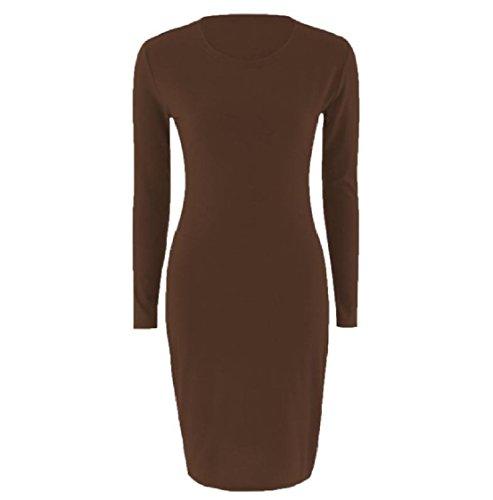 Chevron Corte Media Girocollo Vestito Pattern12 Allungano Maniche Maxi Coolred Solida donne E 6XcBc