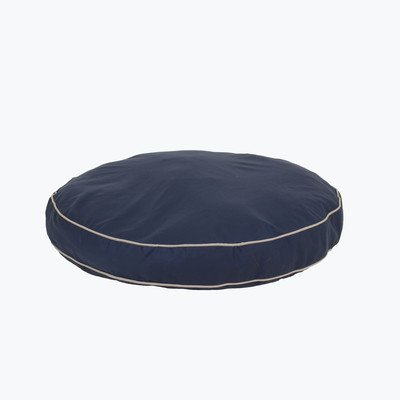 Twill Classic Round Dog Pillow Size: Small (27'' L x 27'' W), Color: Blue