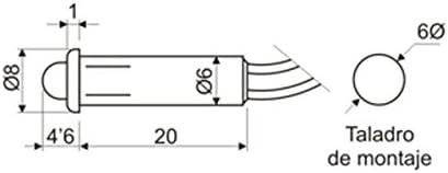 ElectroDH 127265R DH Piloto led 5mm 12V Rojo Alta luminosidad