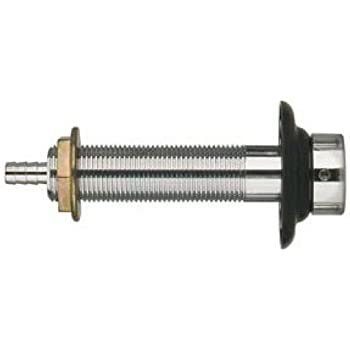Draft Warehouse 4-1/2-Inch Long Beer Nipple Shank Assembly, Chrome Plated, 3/16-Inch Bore