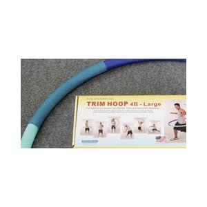 Weight Loss Sports Hoop Series: Trim Hoop 4B - 3.9lb (41 inches wide) Large, Weighted Fitness Exercise Hula Hoop with No Wavy Ridges (46 minutes Workout and Lesson DVD Included)