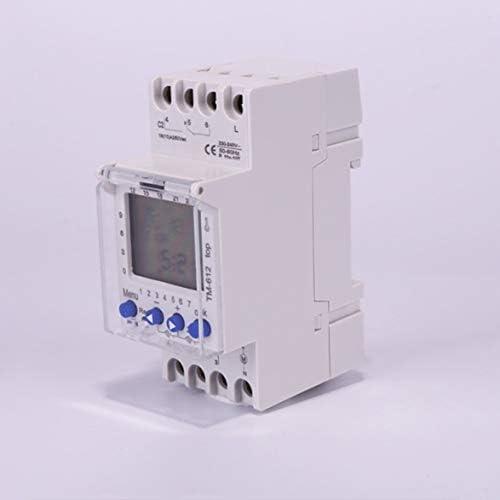 Tivollyff SINOTIMER 220V TM612 2チャンネルタイマー7日24時間2つのリレー出力を備えたプログラム可能な電子LCDデジタルタイムスイッチ