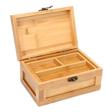 Bumatech Wooden Storage Box Pine Hand Drop Unfinished Sliding Jewelry Personal - 1PCs