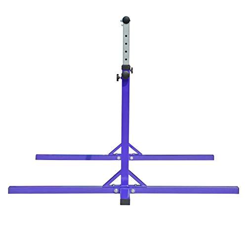 Modern-Depo Adjustable Height Kip Bar Pro | Junior Training Gymnastics Horizontal Bar Beech Wood - Purple by Modern-Depo (Image #4)