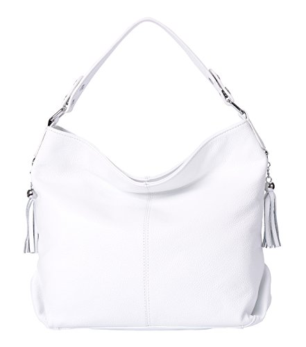 Hardware Tote Handbag - BIG SALE-AINIMOER Womens Leather Vintage Shoulder Bag Ladies Handbags Large Tote Top-handle Purse Cross Body Bags(White)