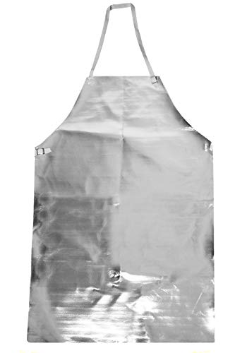 National Safety Apparel A02AS24X48 Acrysil Bib Apron, 24'' x 48'', Aluminized by National Safety Apparel Inc (Image #1)