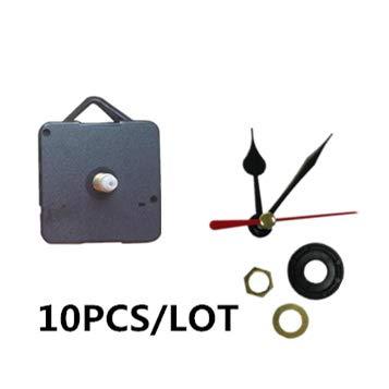 Maslin 10 Sets Quartz Clock Clock Parts Hour Minute handsCore Movement DIY Kit Mechanism Repair Wall Clocks Silence Sweep 18mm Shaft