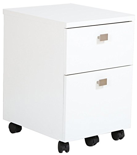 South Shore Interface 2-Drawer Mobile File Cabinet in Pure W