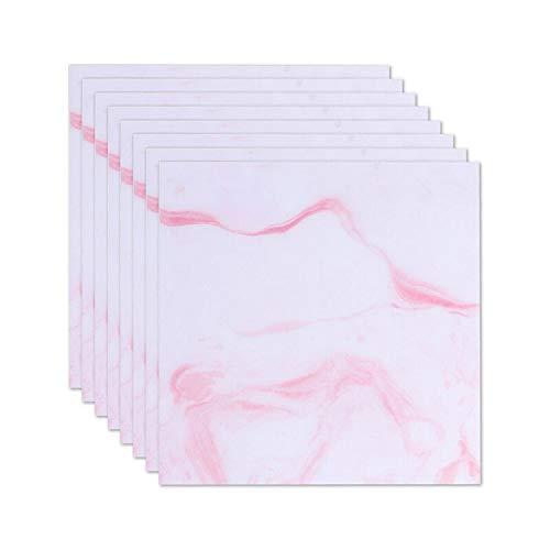 Fostudork Mirror Wall Stickers, Marble Tile Floor Decal Vinyl Proof Self Adhesive Wallpaper Floor Stickers DIY…