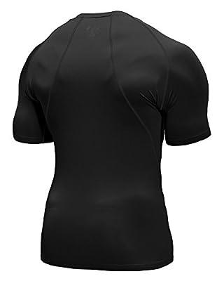 Baleaf Men's Short Sleeve Running Fitness Workout Compression Base Layer Shirt