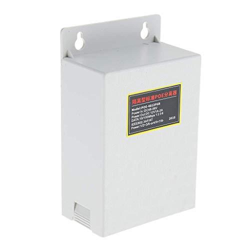 nouler Juler White PoE Cable Distributor, Adaptador pasivo de Ethernet de 48V a 12V para cámaras de vigilancia