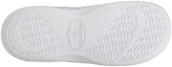 Isotoner Women's Classic Terry Clog Slip On Slipper, Heather Grey Flower, X-small5.5-6 M Us 2