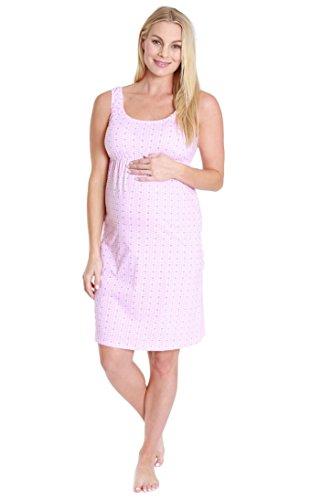 Baby Be Mine Maternity Nursing Gown Sleeveless Nightgown Pregnancy (Medium, - Chloe Womens Bag